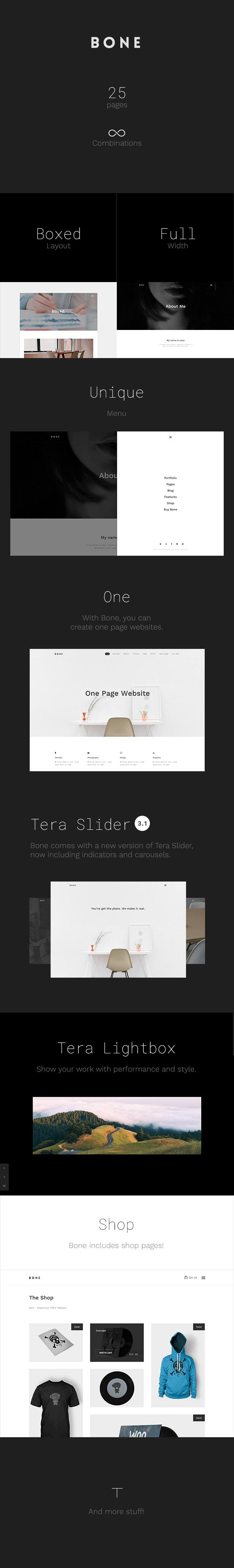 Bone   Agency Portfolio HTML5 Template for designers, photographers, freelancers or businesses