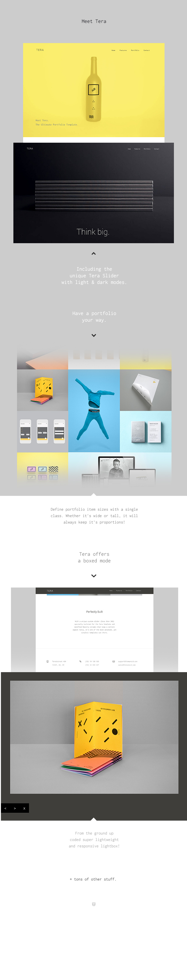 Tera - Responsive HTML5 Template for designers and photographers